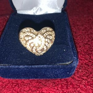 Heart Shaped Silver Sterling Ring 925